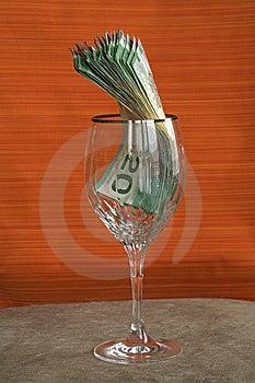 Fattura cad dei soldi 033 in vetro Immagini Stock