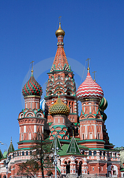 The Pokrovsky Cathedral (St. Basil's Cathedral) On Stock Image - Image: 5000681