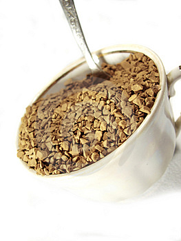 Instant Coffee Metal Spoon Royalty Free Stock Image - Image: 5001226