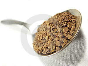 Instant Coffee Metal Spoon Closeup 2 Stock Photo - Image: 5001230