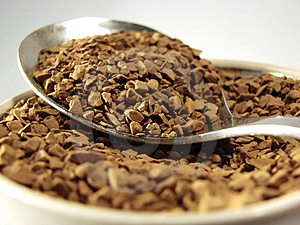 Instant Coffee Metal Spoon Closeup Royalty Free Stock Photos - Image: 5001258