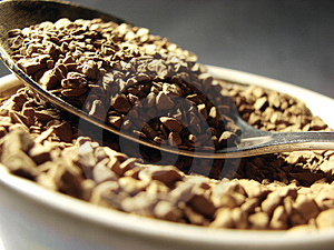 Instant Coffee Metal Spoon Closeup 2 Stock Image - Image: 5001291