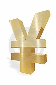 Simbolo Di Valuta Di Yen Immagini Stock Libere da Diritti - Immagine: 5005989