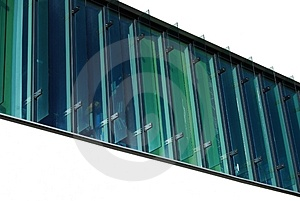 Green Windows At Secure Area Royalty Free Stock Photo - Image: 5008095