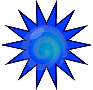 Glossy Blue Web Sticker Royalty Free Stock Images - Image: 5012779