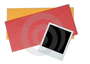 Blank Instant Photo And Two Envelopes Royalty Free Stock Images - Image: 5018549