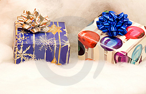 Two Colorful Christmas Presents Stock Photos - Image: 5021313