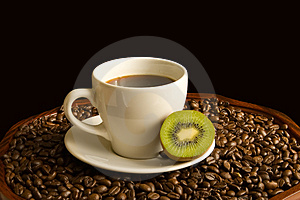 Coffee With Kiwi Stock Images - Image: 5030914