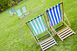 Vacant Deck Chairs Stock Image - Image: 5033801