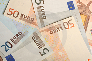 Five, Twenty And Fifty Euros Stock Photography - Image: 5034252