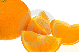 Whole Orange Plus Segments Stock Image - Image: 5034641