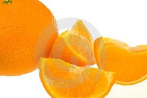 Whole Orange Plus Segments Stock Image - Image: 5034641