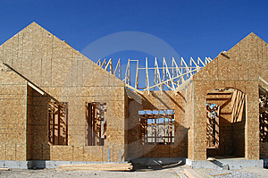 Construction of New Home Stock Photography