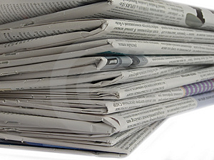 Newspaper Royalty Free Stock Photography