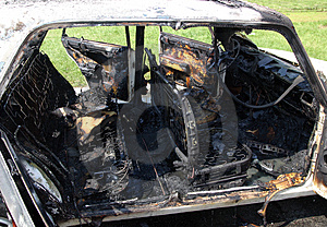 Burn-off Car Royalty Free Stock Image - Image: 5038176