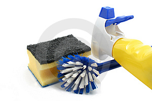 Cleaning utilities Stock Photography