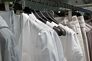 Clothe shop Royalty Free Stock Photos