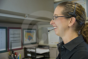 Call Center Worker Stock Photo