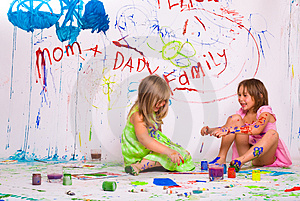 Children paints Royalty Free Stock Images