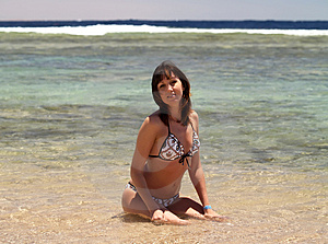 Woman Enjoying The Sun On Vacation Royalty Free Stock Photo - Image: 5052645