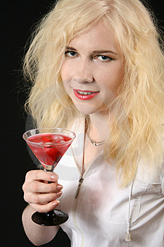 Girl With Martini Stock Images - Image: 5054654