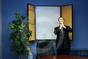 Businessman Praying For Success Stock Images - Image: 5059874