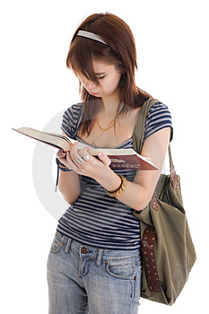 The Young Attractive Student With Books Isolated Royalty Free Stock Photos - Image: 5065268