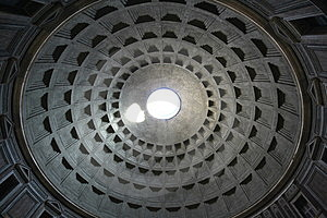Rome Pantheon Ceiling Stock Photography - Image: 5066462