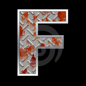 Metal Capital Letter Stock Images - Image: 5070974