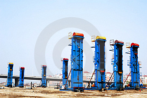 Cluster oil well Stock Photo