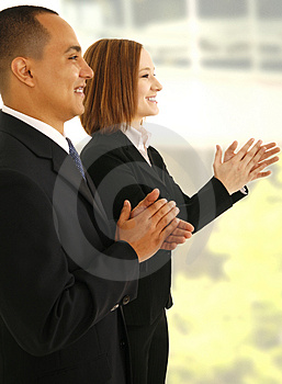 Business Team Clapping Hand Free Stock Photography
