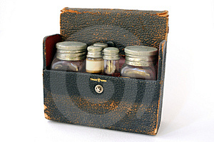 Caso Farmacéutico Del Vintage Fotos de archivo - Imagen: 5075033