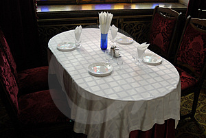 Table At The Restaurant Stock Image - Image: 5082671
