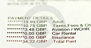 Flight Confirmation Royalty Free Stock Images - Image: 5084939