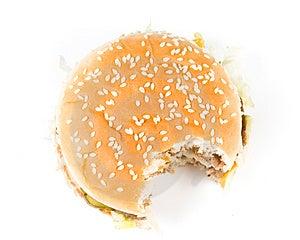 The Taken A Bite Hamburger Royalty Free Stock Photo - Image: 5084965