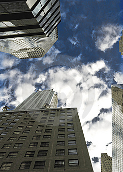 City From Below Stock Images - Image: 5086364