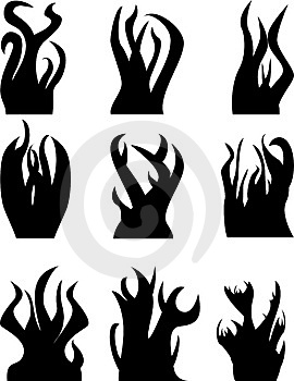 Flame Icons Stock Photography - Image: 5088232