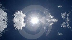 Sun Shining In Blue Sky Royalty Free Stock Image - Image: 5090866