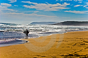 Surfer Walking Royalty Free Stock Photo - Image: 5091465