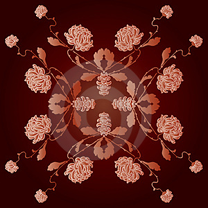 Floral Ornament Royalty Free Stock Image - Image: 5092866