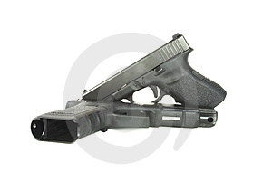 Two Semi Automatic Pistols Royalty Free Stock Photography - Image: 5097917