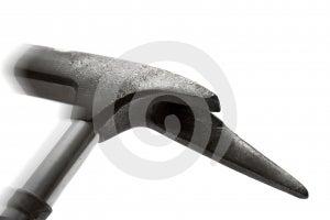 Poisson-marteau En Métal Dans Le Mouvement Images libres de droits - Image: 514059