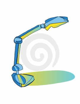 Desk Lamp Illuminated  Royalty Free Stock Image - Image: 516086