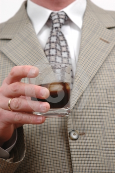 Businessman With Drink Stock Image - Image: 519911