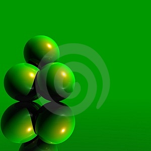 3D Logo Objects Green Balls Image libre de droits - Image: 5103776