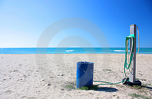 Water On Beach Stock Photography - Image: 5103822