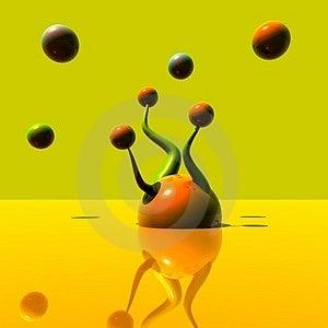 3D Logo Objects Orange 0246 Royalty Free Stock Image - Image: 5103836