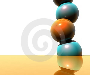 3D Logo Objects Balls Royalty Free Stock Photography - Image: 5103917