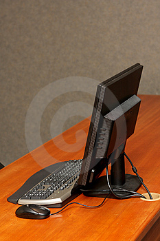 Desk Computer Stock Images