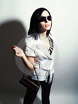 Glamorous Lady With Sunglasses Royalty Free Stock Photography - Image: 5110877
